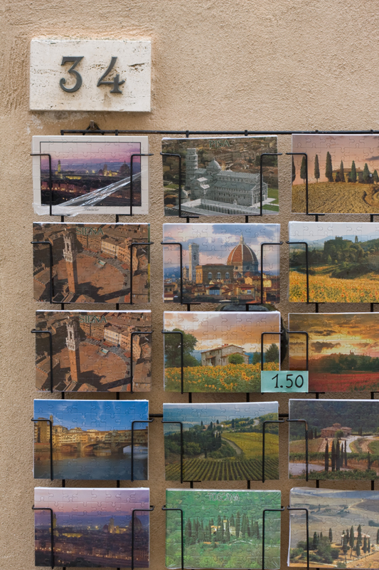 Post Cards in San Gimignano, Italy
