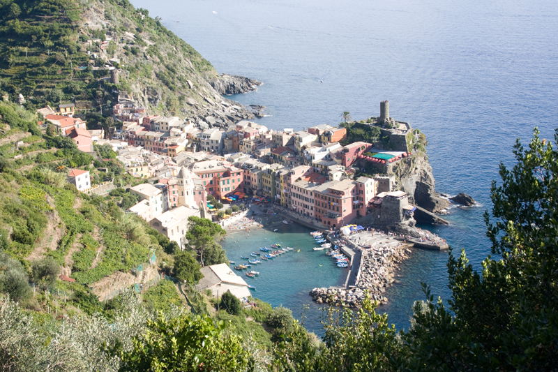 View over Vernazza, Italy