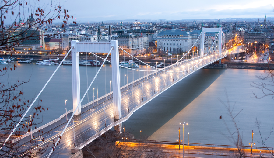 Elizabeth Bridge Budapest at Sunrise