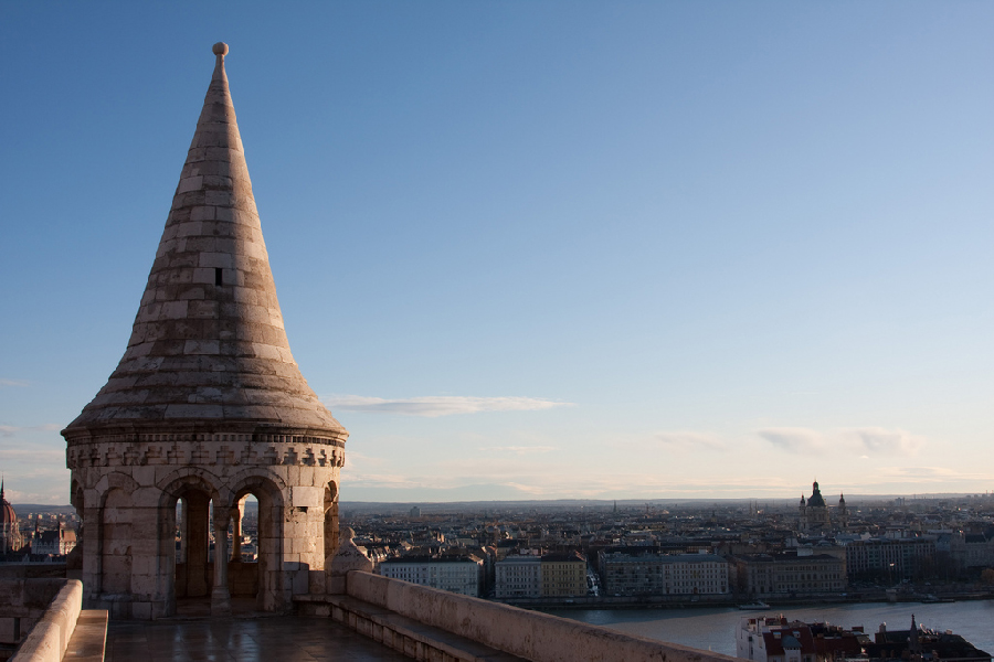 Fishermans Bastion Budapest at Daytime