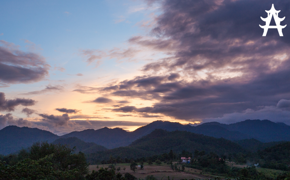 A beautiful sunset greeted us welcome when arriving back in Pai