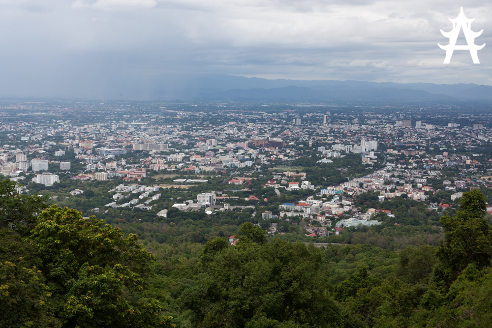 High above Chiang Mai