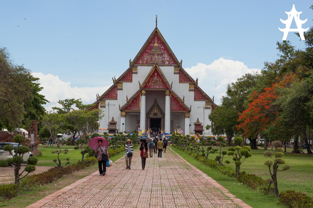 Wihan phra mongkhon bophit temple in Ayutthaya