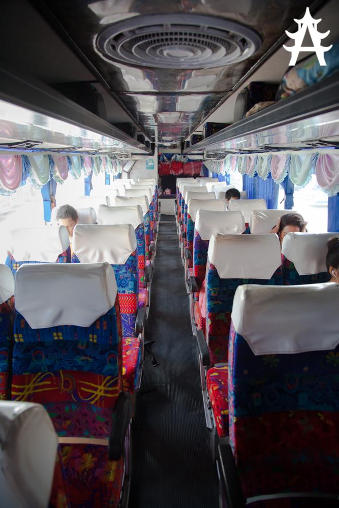The bus that got us from Bangkok to Pak Chong