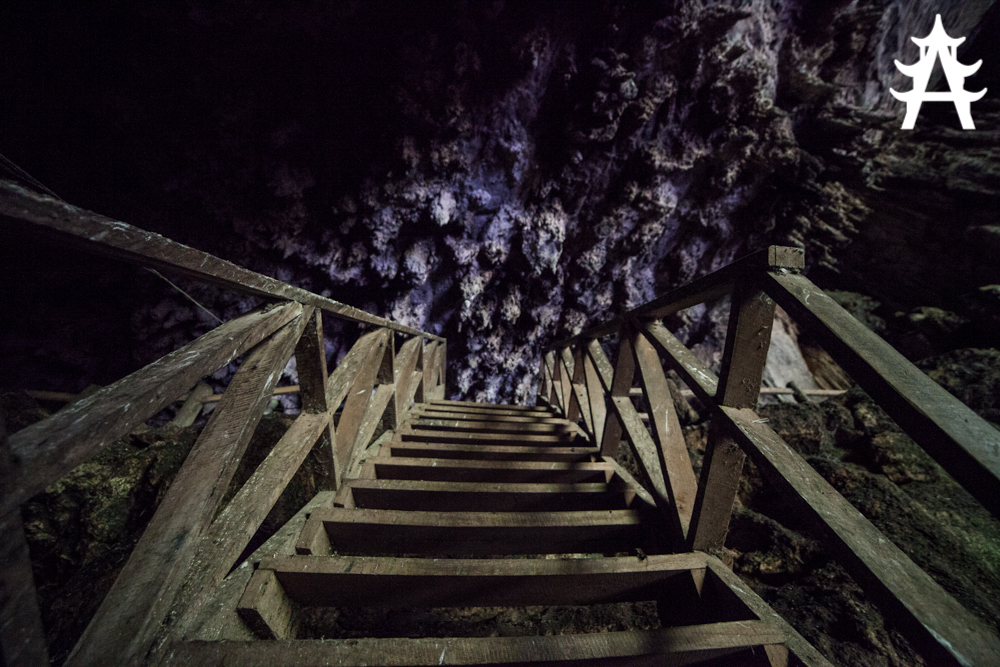 Stairways inside the cave