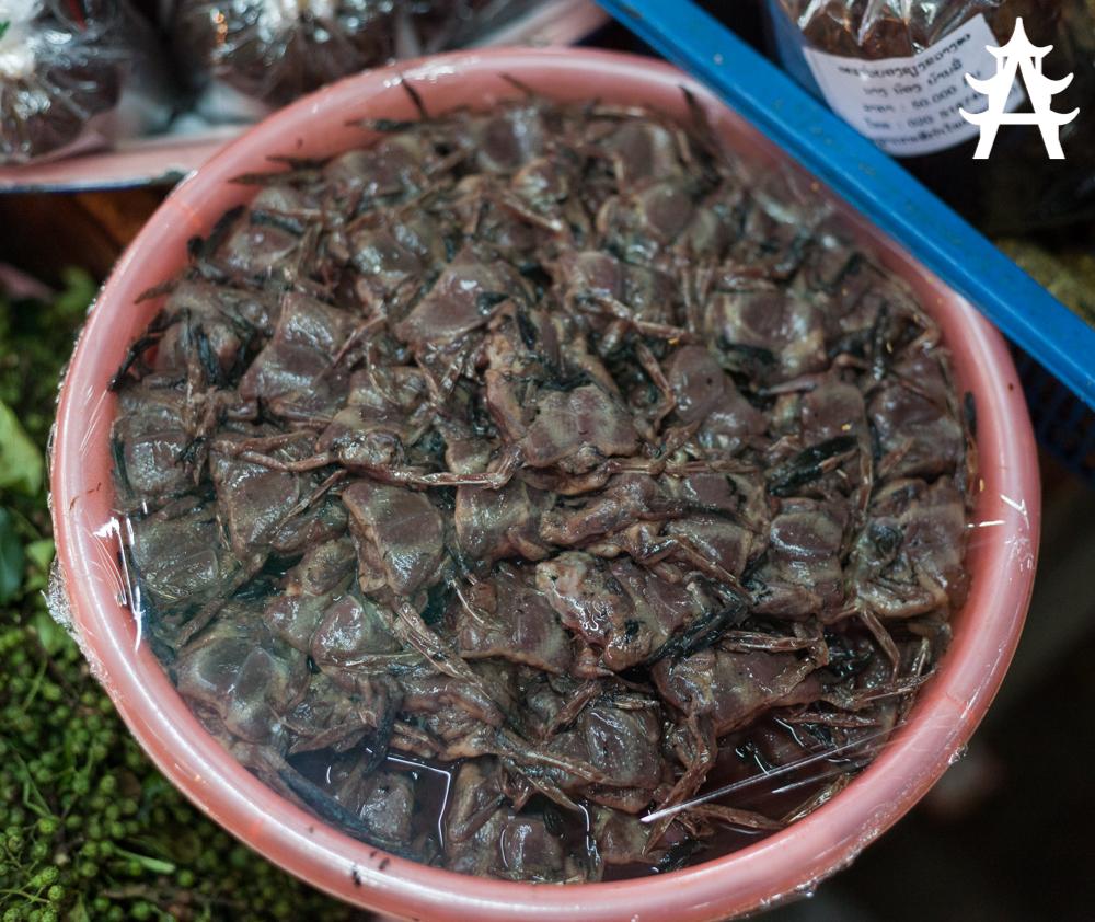 The fresh meat market of Phonsavan