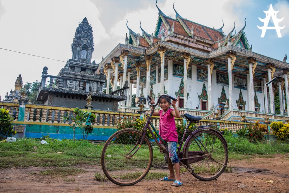 Girl on Bike Battambang