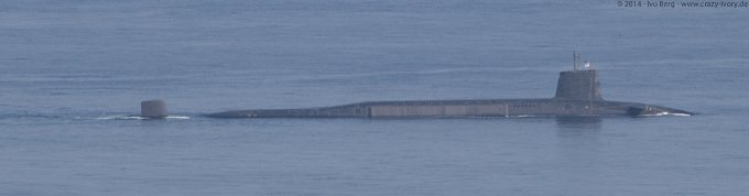 Detail of military submarines on Isle of Skye