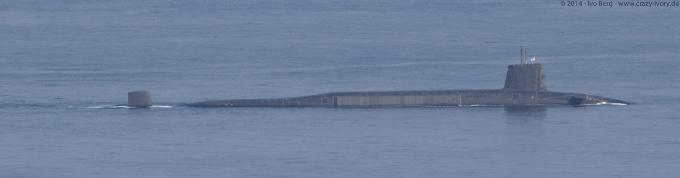 Detail of military submarines on Isle of Skye