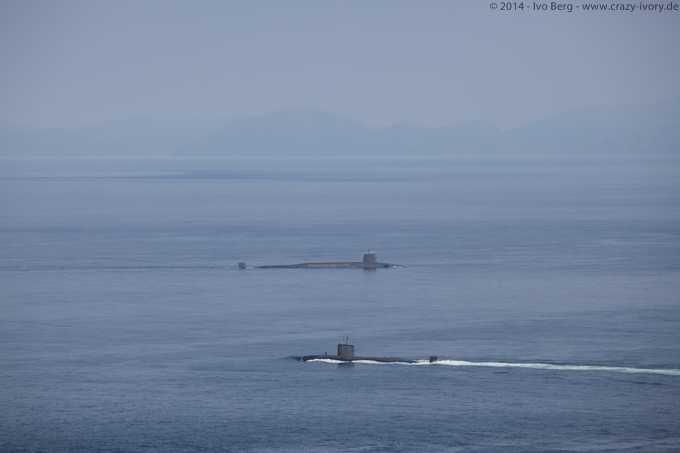 Military submarines on Isle of Skye