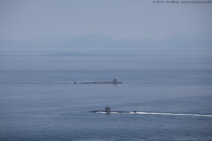 Military submarines on Isle of Skye